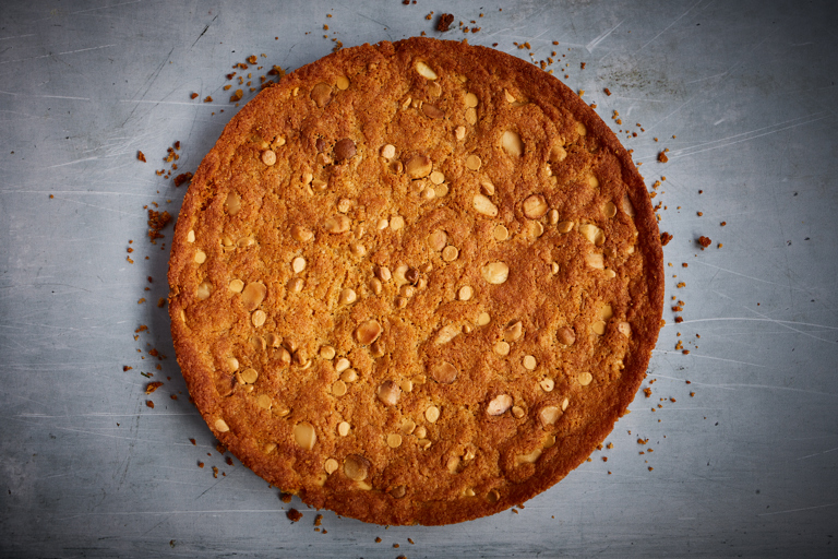 Massive macadamia and white chocolate gluten-free cookie