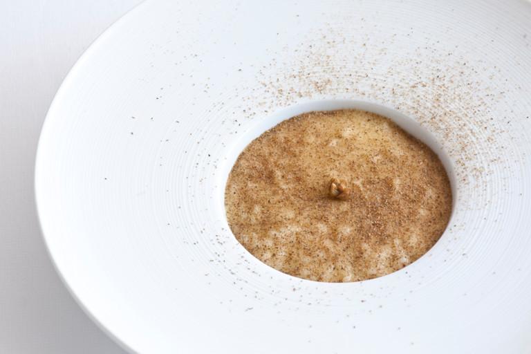 Risolio, Annurca apples and caper powder