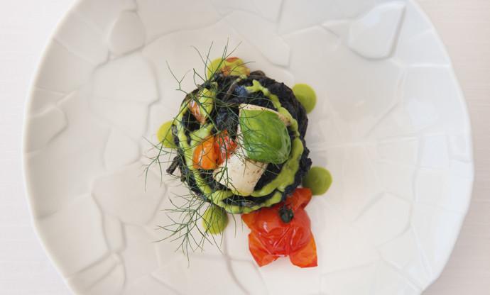 Tagliolini with cuttlefish ink ragu