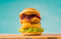 Torta de Pescado - Fried fish sandwich with chipotle mayo and Mexican slaw