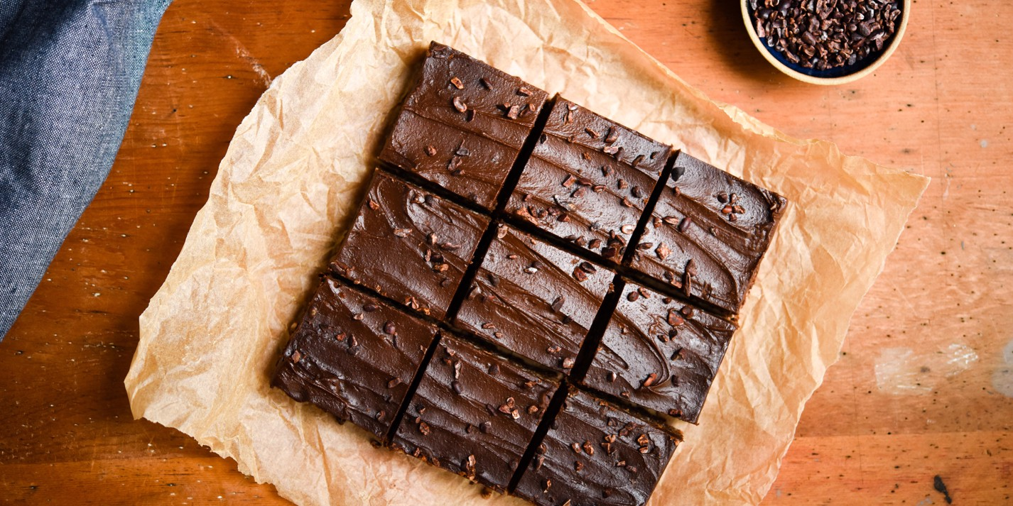 Frosted no-bake brownies