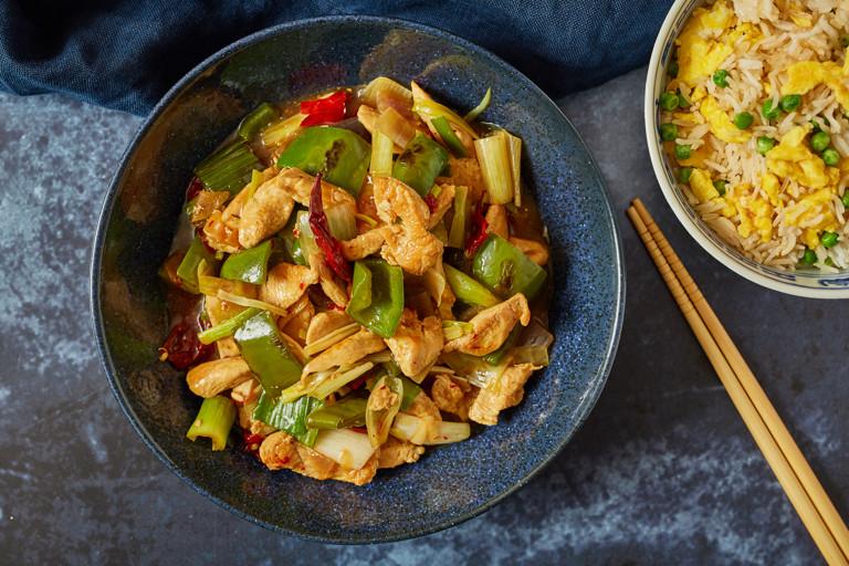 Indian-Chinese chilli chicken