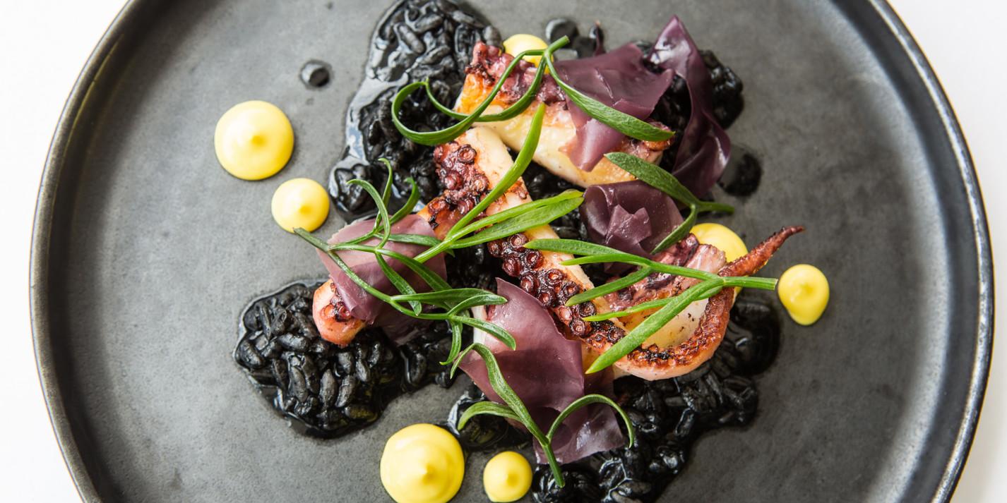 Octopus, 'black rice', saffron