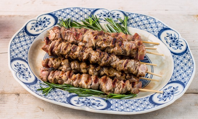 Arrosticini (lamb kebabs)