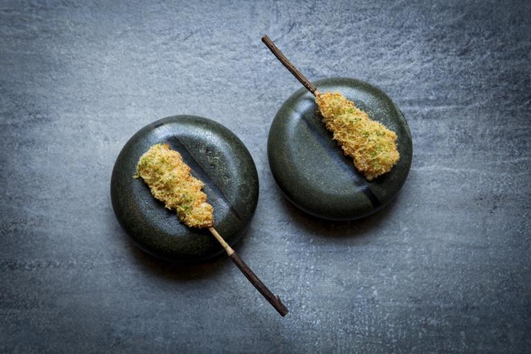 Langoustines with caramelised whey