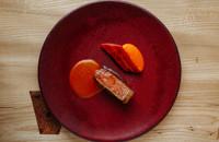 Beef with carrot maafe sauce
