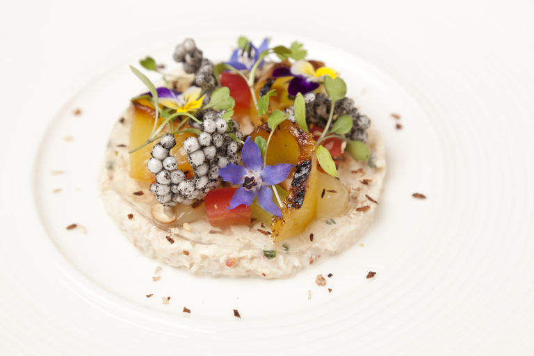 Portland crab with chargrilled pineapple, coconut and cashew nut