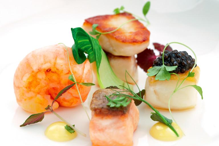 Bouillabaisse, bok choi and saffron aioli
