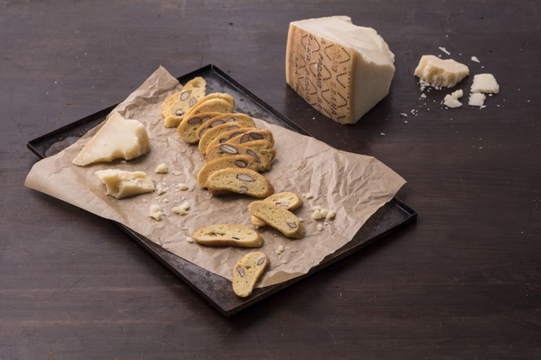 Savoury Grana Padano biscotti