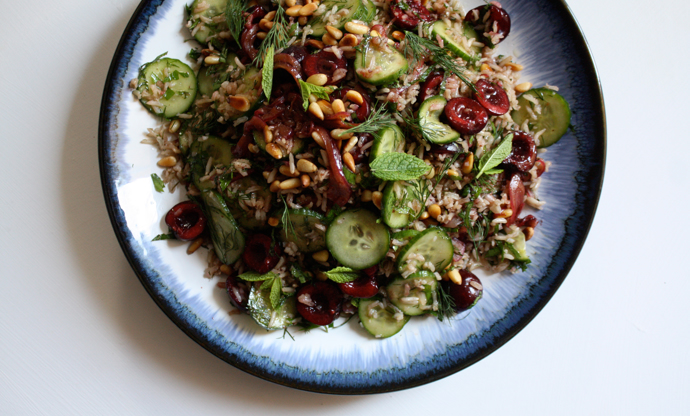 Persian Rice Salad with Cherries