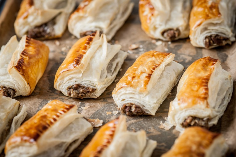 Turkey and stuffing sausage rolls