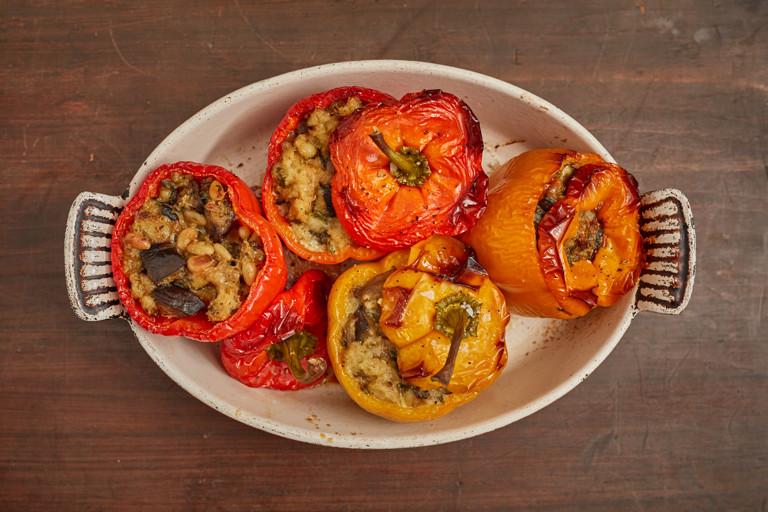 Peperoni ripieni – Neopolitan stuffed peppers