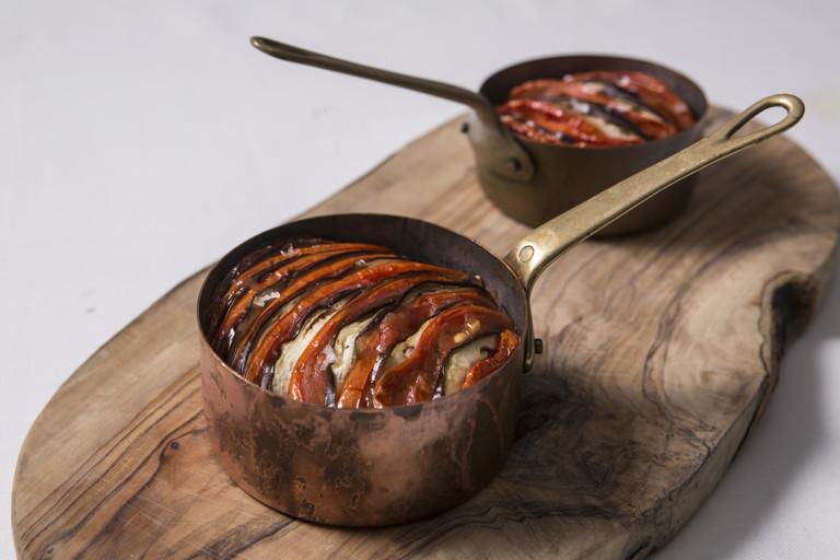 Imam biyaldi (Turkish baked tomato and aubergine)