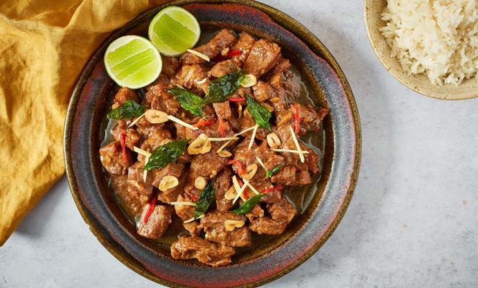Porco balichão tamarindo – Macanese tamarind-braised pork