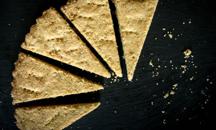 Vegan rosemary and lemon shortbread