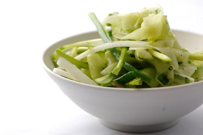 Asparagus and cucumber salad