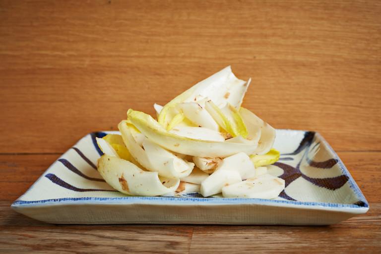 Tokyo turnip, chicory and bonito salad