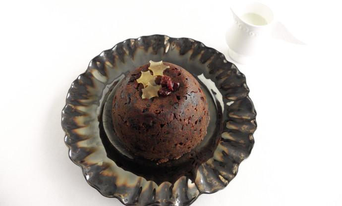 Gluten free rhubarb and armagnac christmas pudding recipe