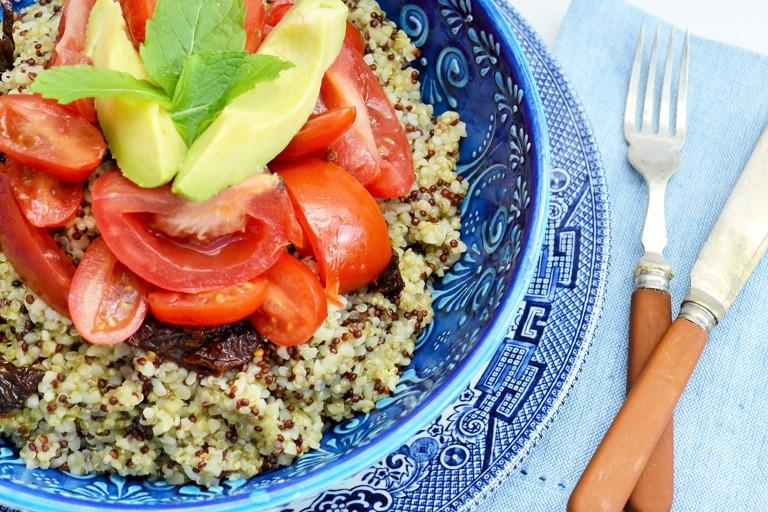 Triple tomato tabbouleh