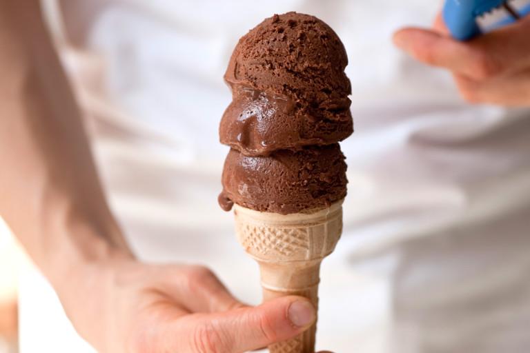 Vegan chocolate sorbet