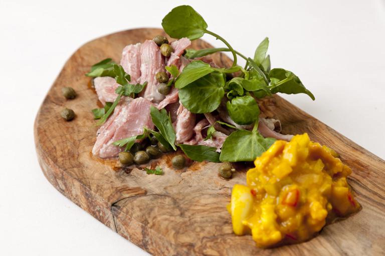 Ham hock terrine with piccalilli