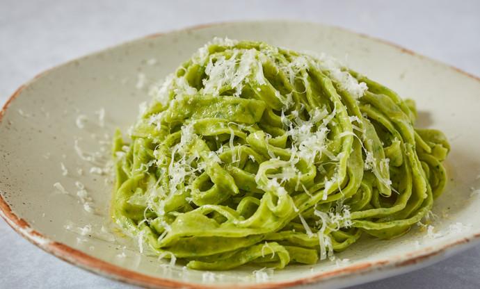 Wild garlic pasta dough