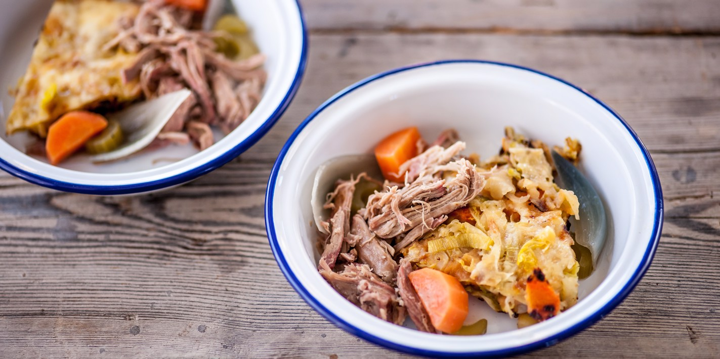 Pork shoulder with bubble and squeak