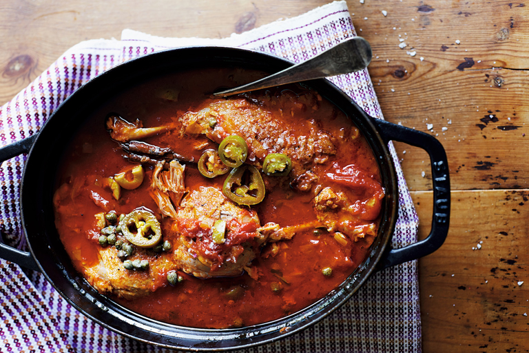 Duck legs with silky rich Veracruzan tomato sauce