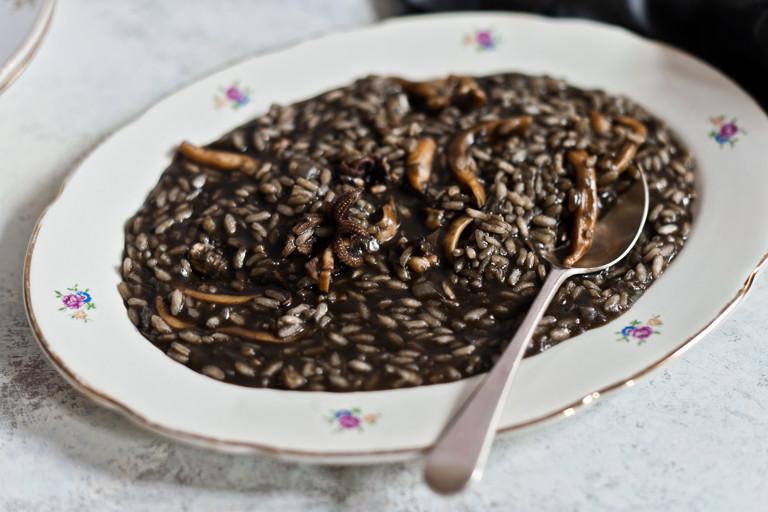 Squid ink risotto - risotto al nero di seppia