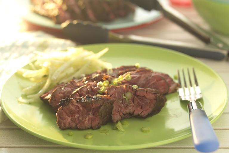 Lime-marinated flank steak