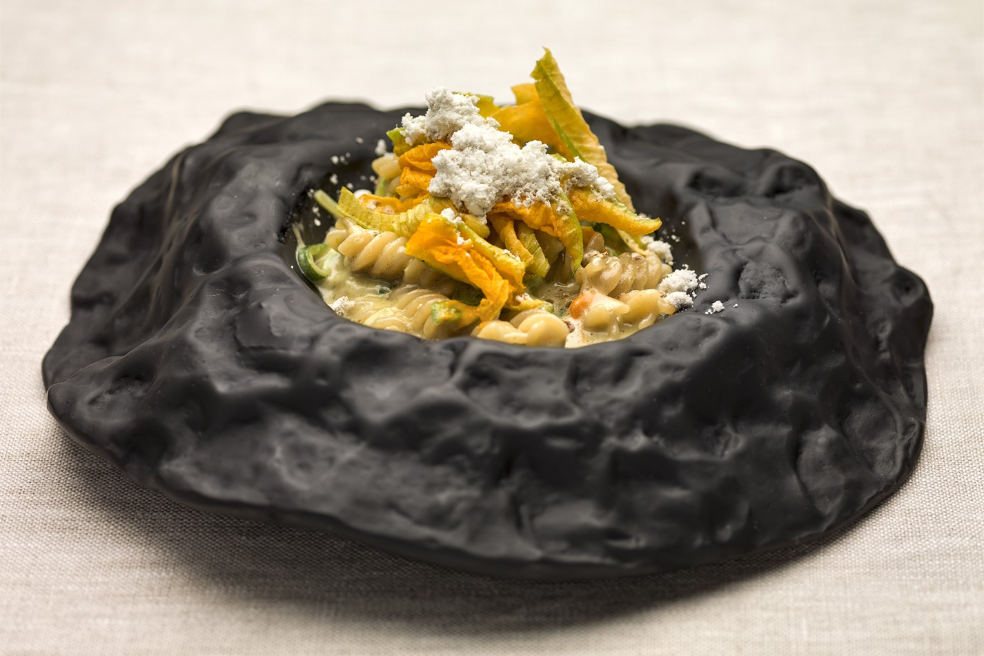 Jure Tomic, Slovenia – Fusilli with courgette, goat's cheese and pumpkin