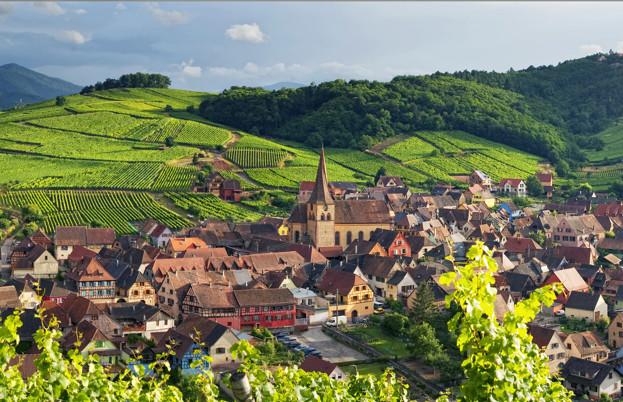 Niedermorschwihr, on the Alsace wine route
