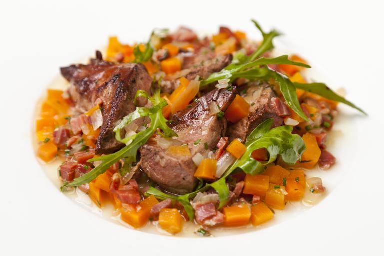 Barigoule of pork heart stew