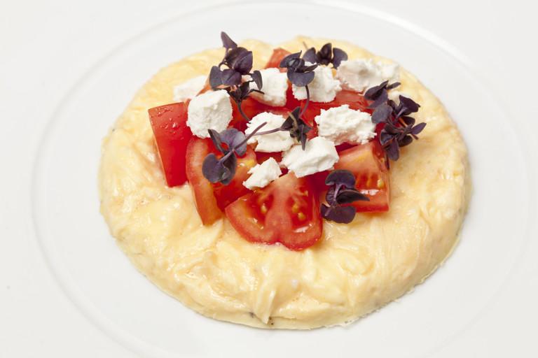Open omelette