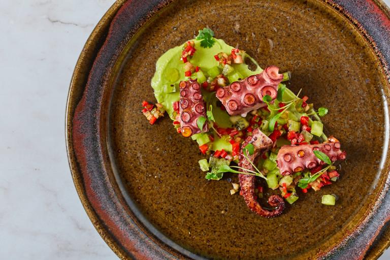 Galician octopus salad – salpicón de polbo á grella