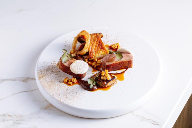 Duck, mushroom, foie gras