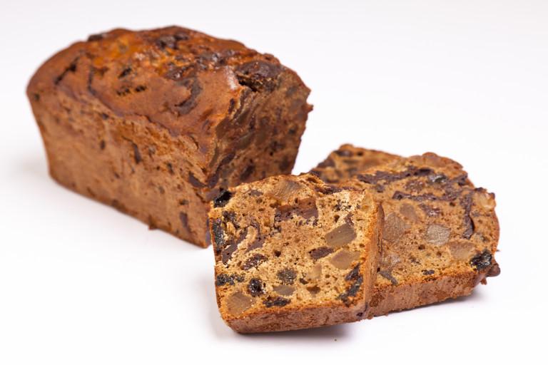 Chocolate, ginger and cardamom tea bread