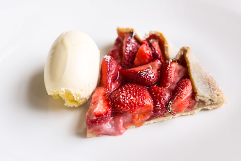 Strawberry and almond tart