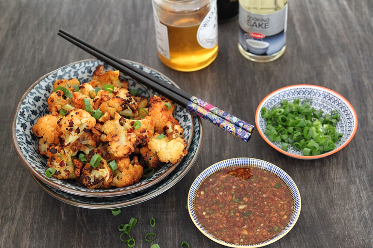 Roasted cauliflower with honey and garlic recipe