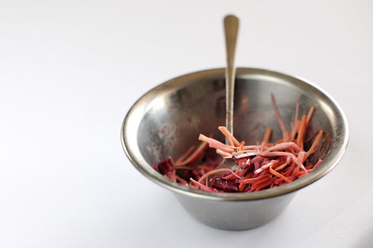 Root vegetable coleslaw