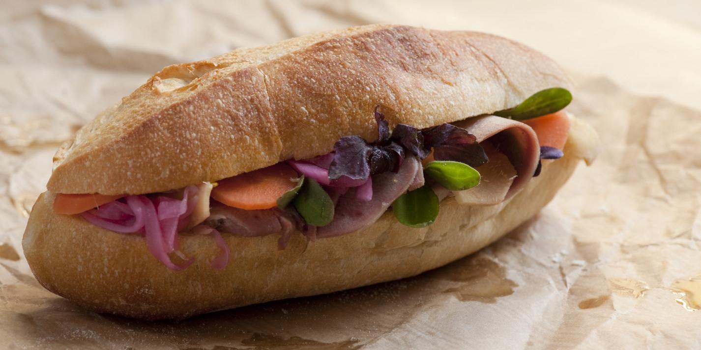Pastrami tongue sandwich