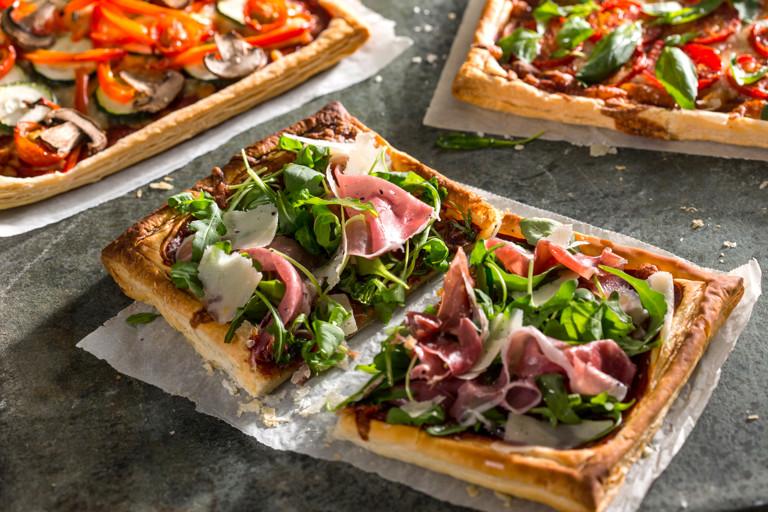 Puff pizzas