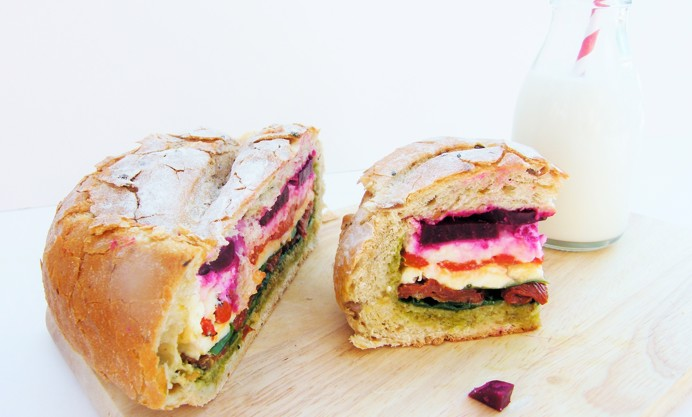 Slice open to reveal a rainbow of colours