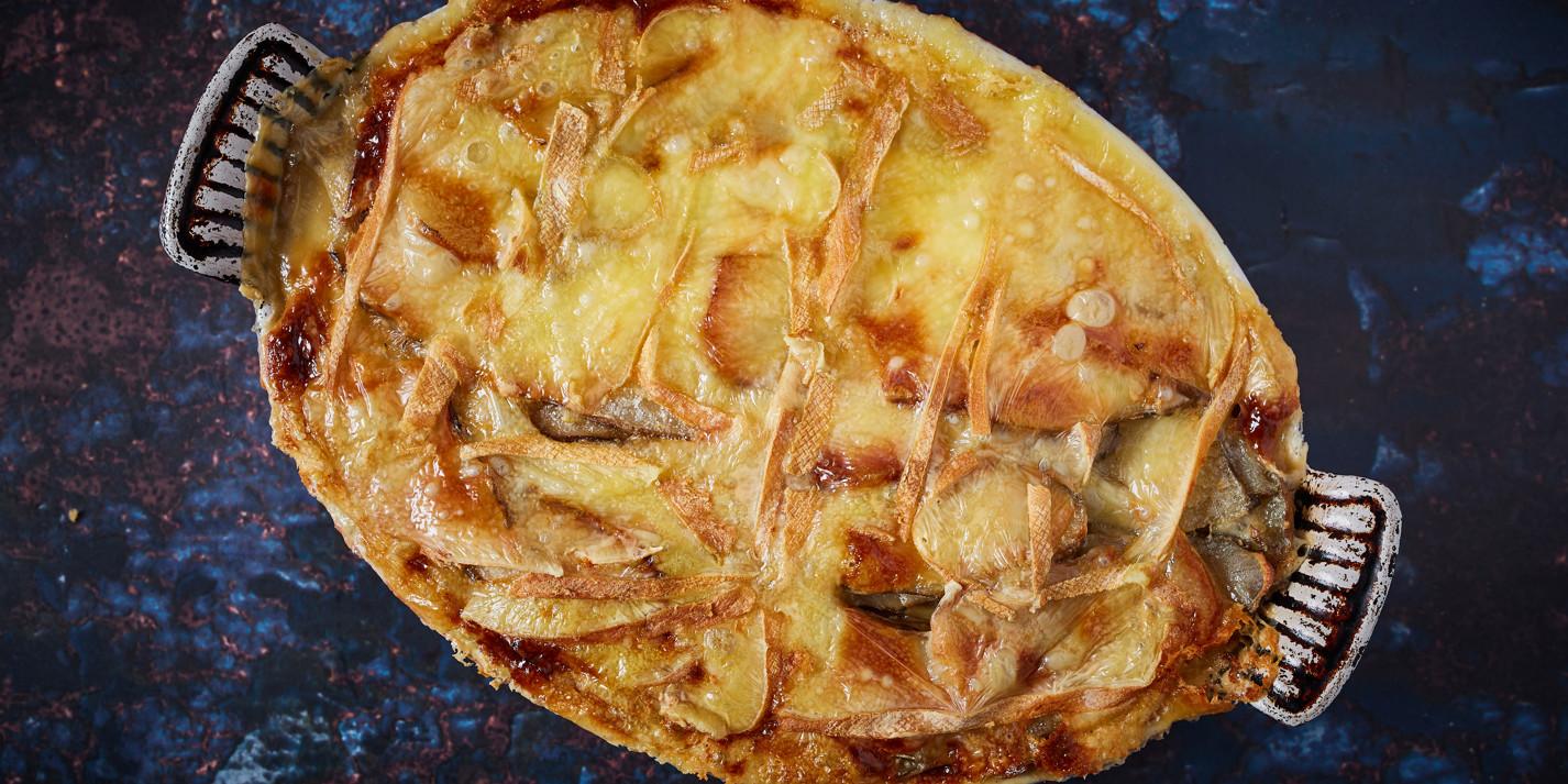 Truffled Jerusalem artichoke gratin