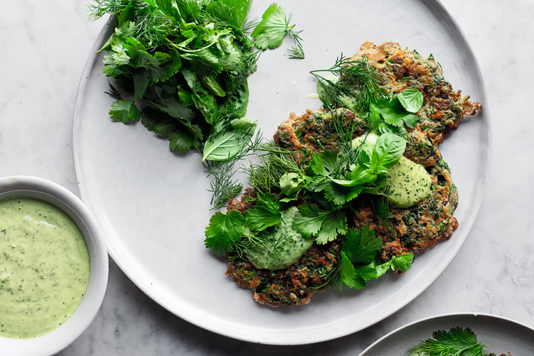 Iranian herb fritters