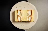 Egg tofu katsu sando