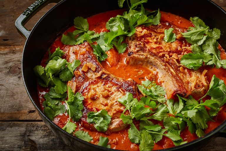 Pork, apricot and coconut curry