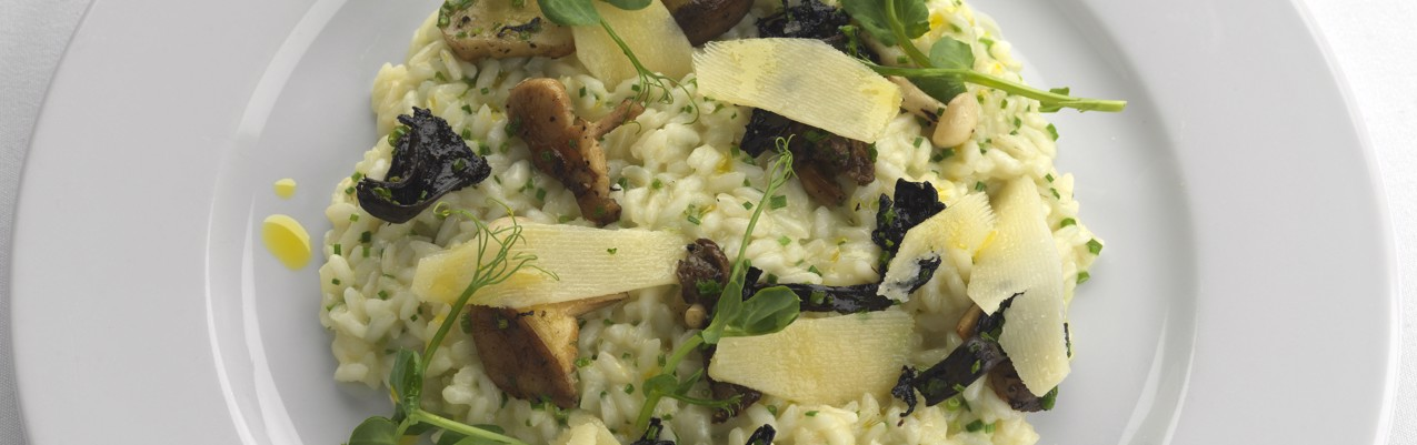 Mushroom risotto with Parmesan and truffle oil