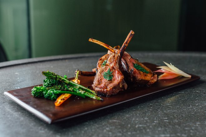 Kohitsuji yaki – chargrilled teriyaki-glazed lamb chops