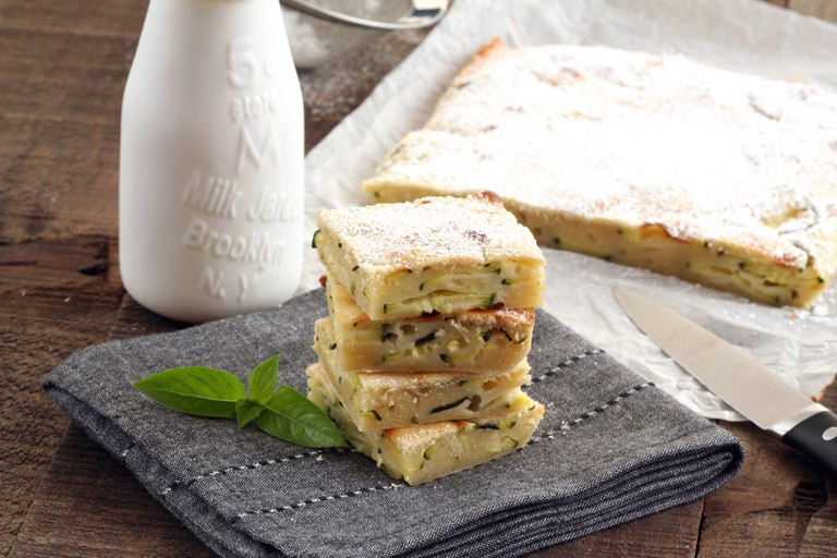 Scarpaccia viareggina - Italian courgette cake